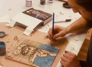 David Whelan Woodcutting Art 001